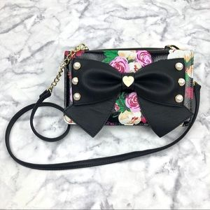 🆕 {betsy johnson} floral purse 🌺